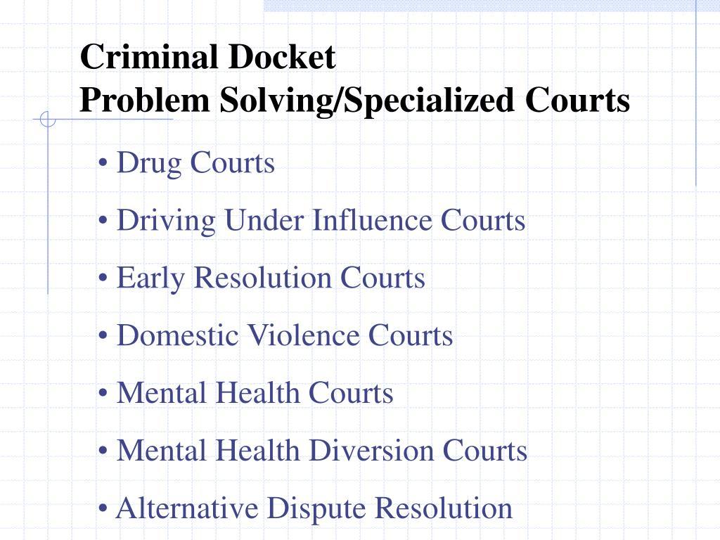 Criminal Docket