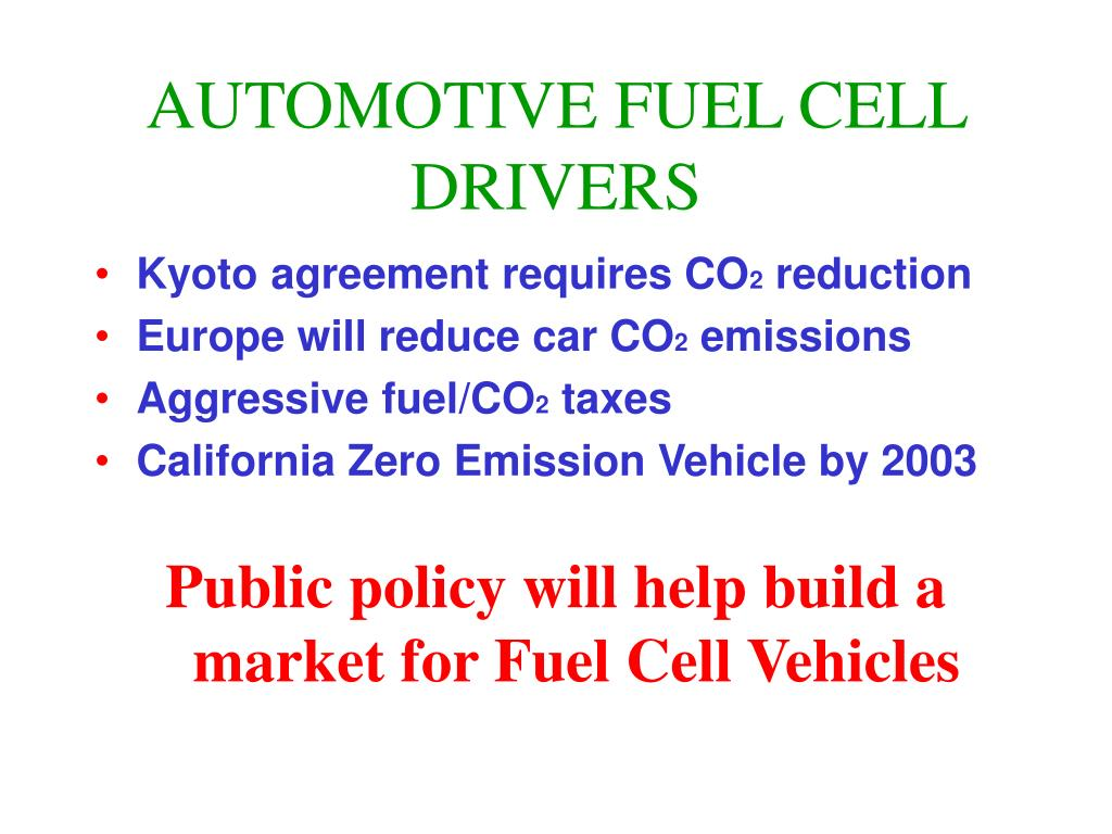 AUTOMOTIVE FUEL CELL DRIVERS