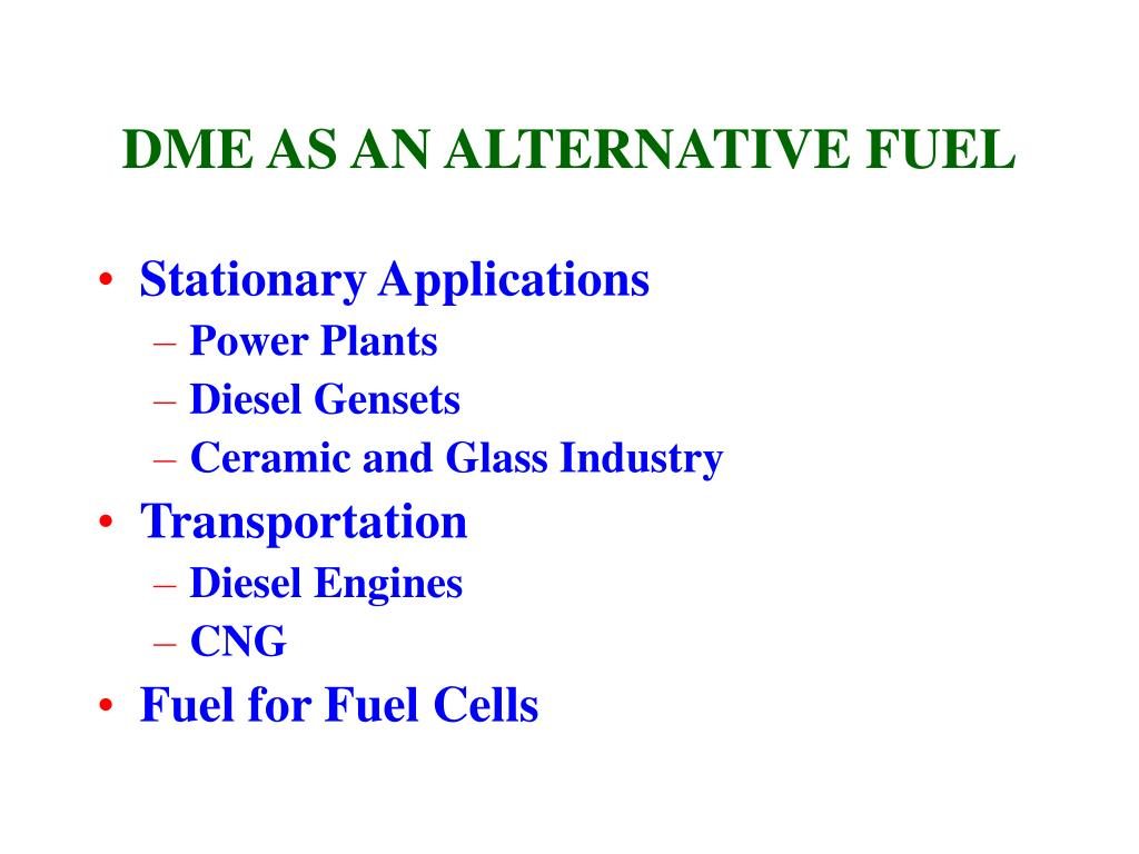 DME AS AN ALTERNATIVE FUEL