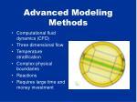 advanced modeling methods