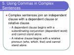 5 using commas in complex sentences