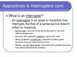 appositives interrupters cont
