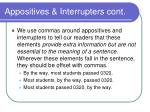 appositives interrupters cont8