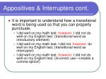 appositives interrupters cont9