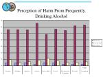 perception of harm from frequently drinking alcohol