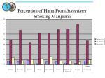 perception of harm from sometimes smoking marijuana