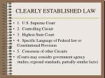 clearly established law