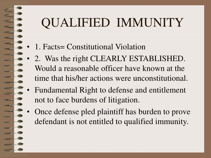 Image result for qualified immunity definition