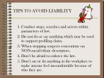 tips to avoid liability9