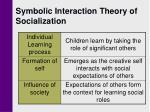 symbolic interaction theory of socialization
