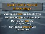 jonah s call to nineveh in four stages12