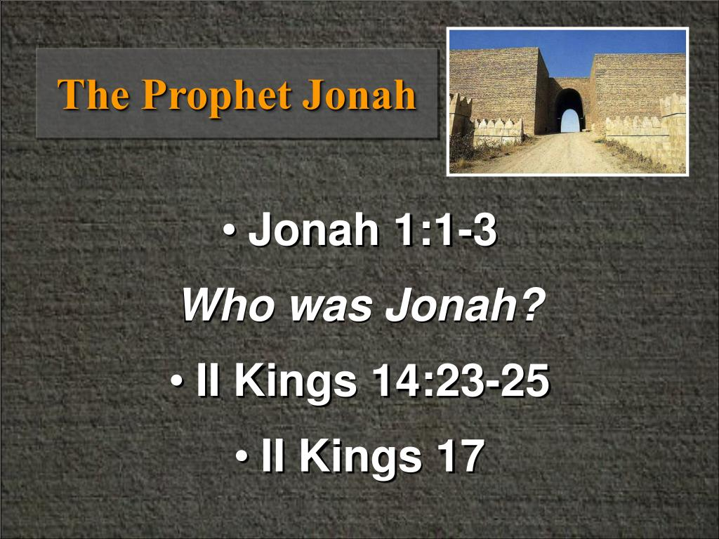 the prophet jonah l.