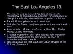 the east los angeles 13