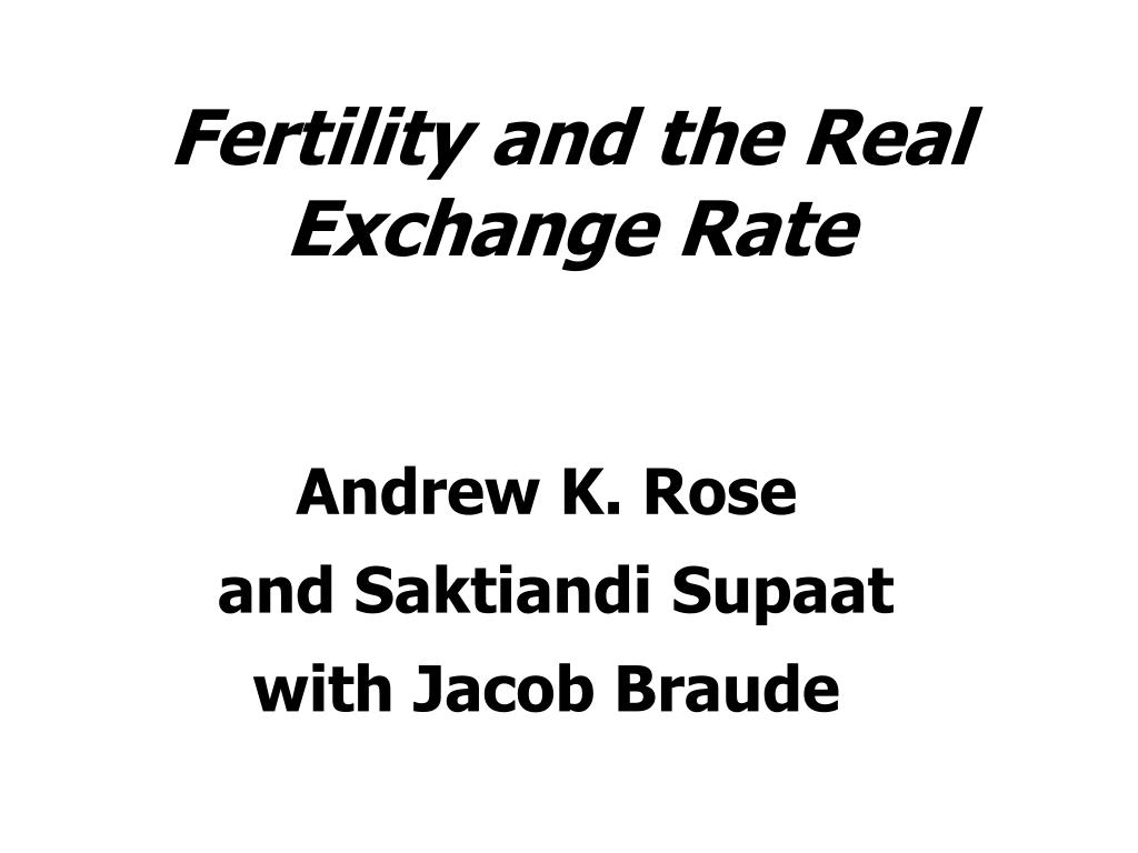 fertility and the real exchange rate l.