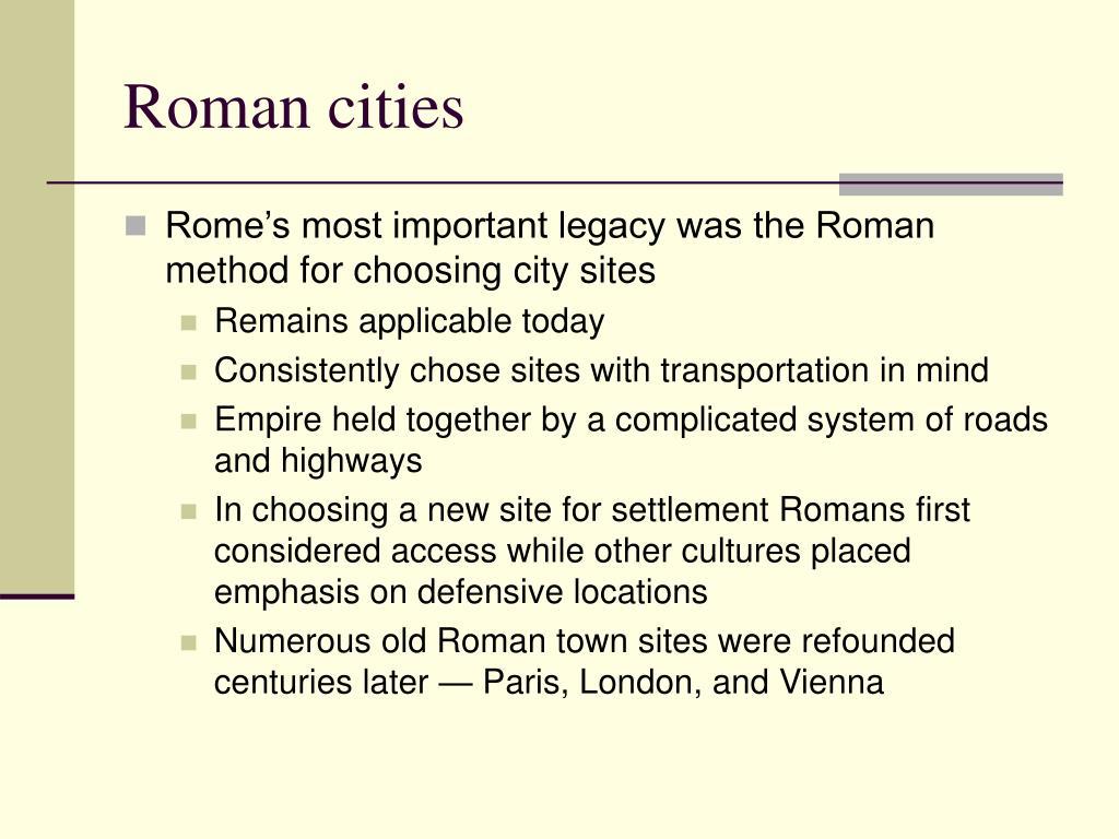 Roman cities