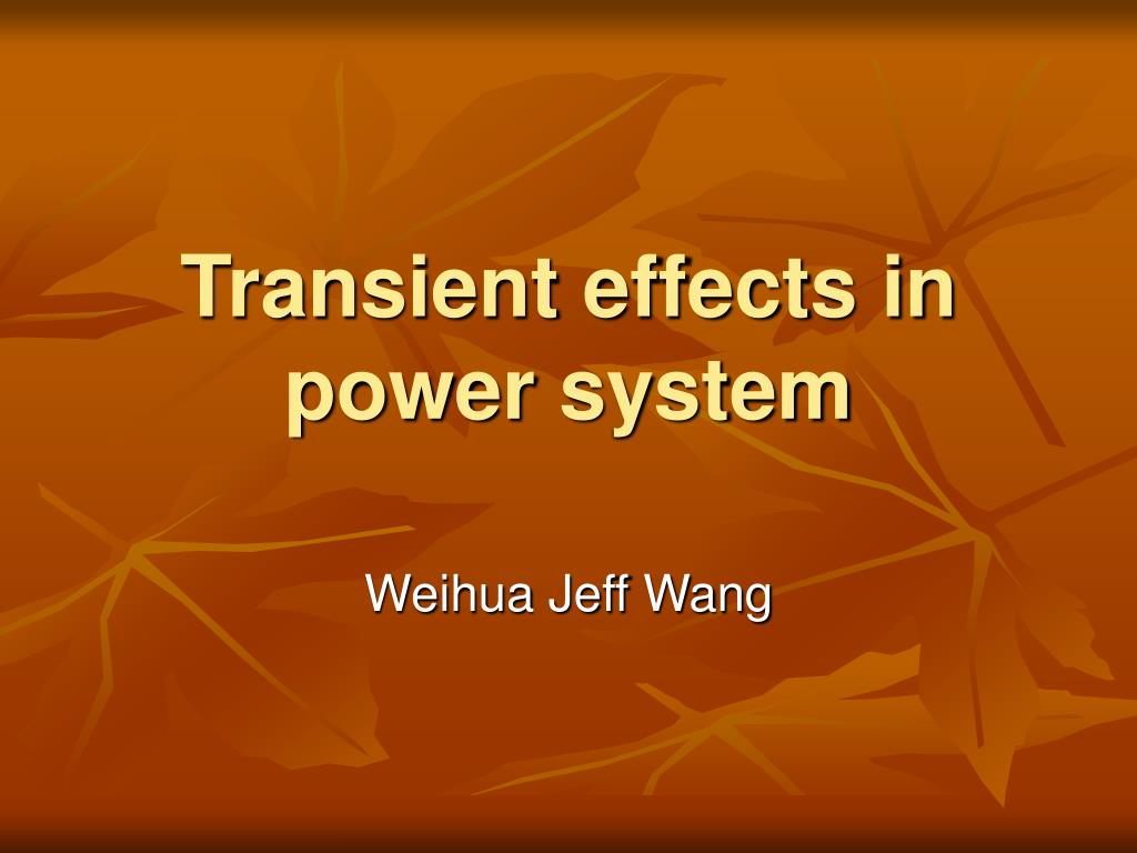 transient effects in power system l.