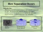 how separation occurs7