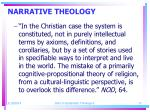 narrative theology17