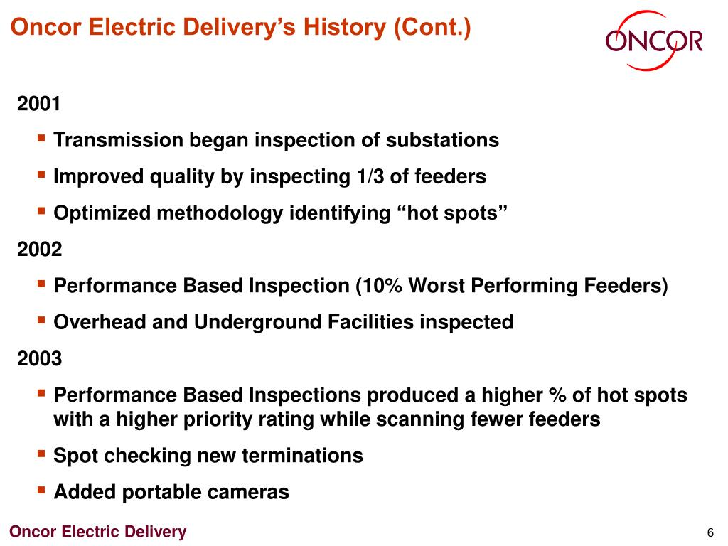 Oncor Electric Delivery's History (Cont.)