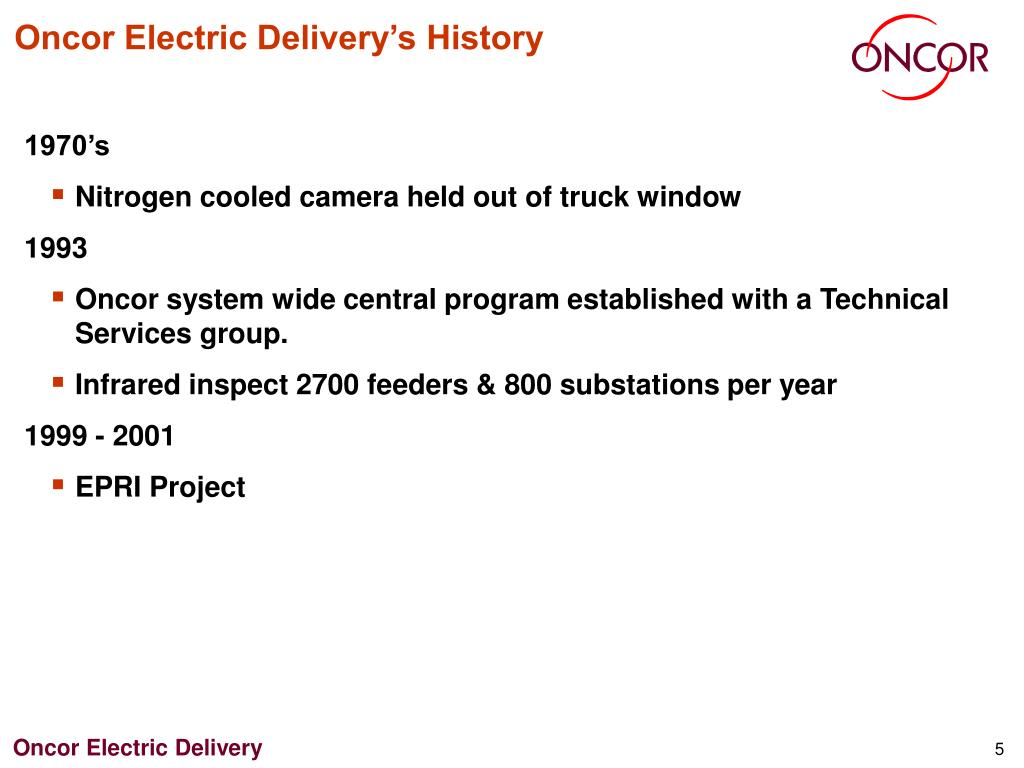 Oncor Electric Delivery's History
