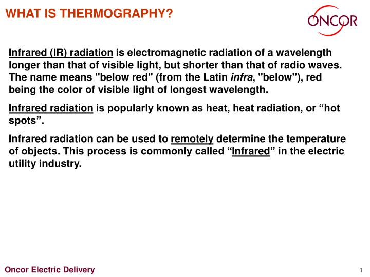 What is thermography