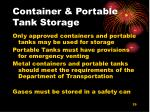 container portable tank storage