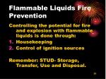 flammable liquids fire prevention