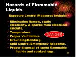 hazards of flammable liquids