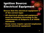 ignition source electrical equipment
