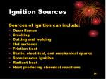 ignition sources