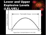 lower and upper explosive levels lel uel
