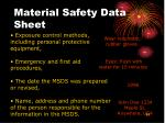 material safety data sheet51