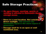 safe storage practices