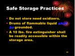 safe storage practices45