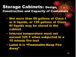 storage cabinets design construction and capacity of containers