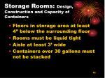 storage rooms design construction and capacity of containers