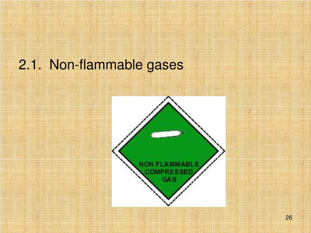 2.1.  Non-flammable gases