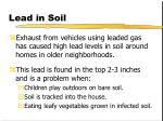 lead in soil