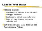 lead in your water