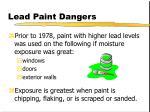 lead paint dangers