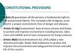 constitutional provisions