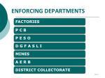 enforcing departments