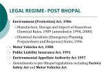 legal regime post bhopal