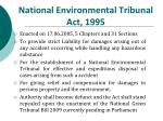national environmental tribunal act 1995