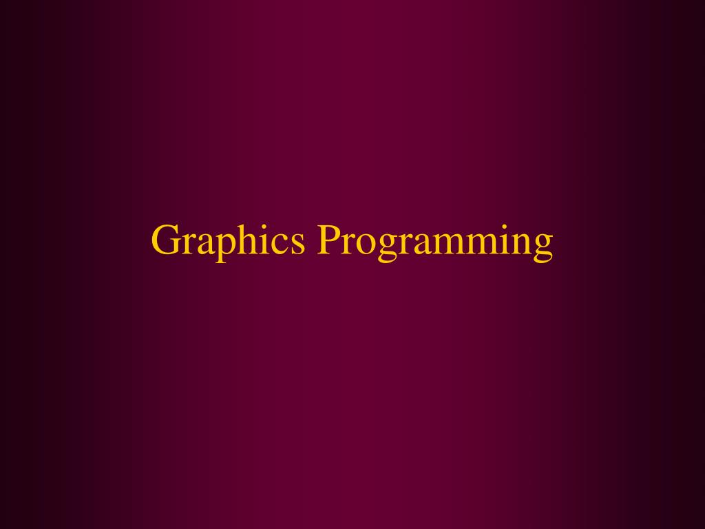 graphics programming l.