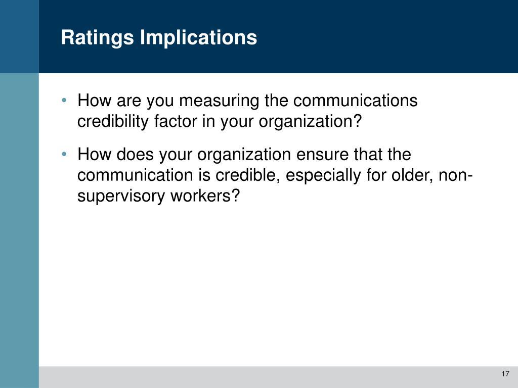 Ratings Implications