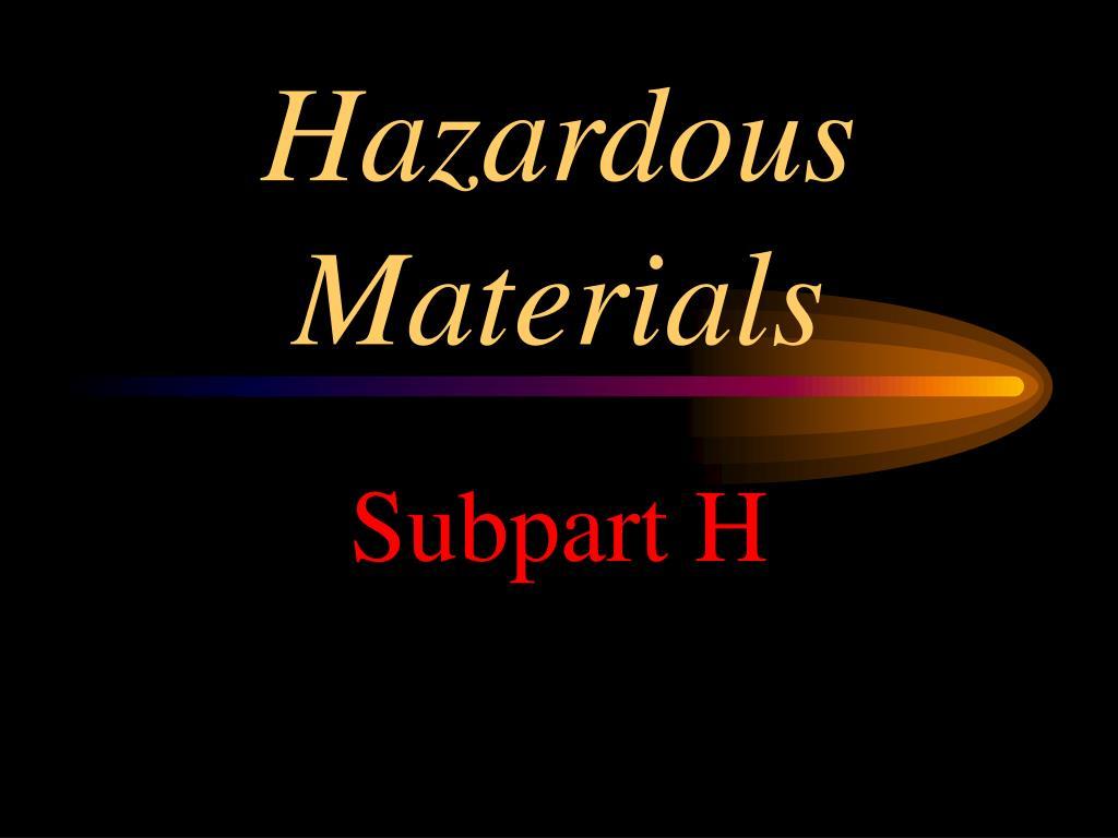 hazardous materials l.