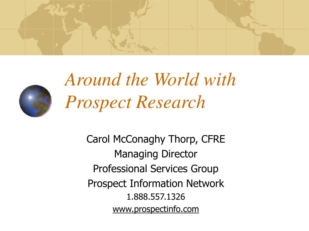 around the world with prospect research l.