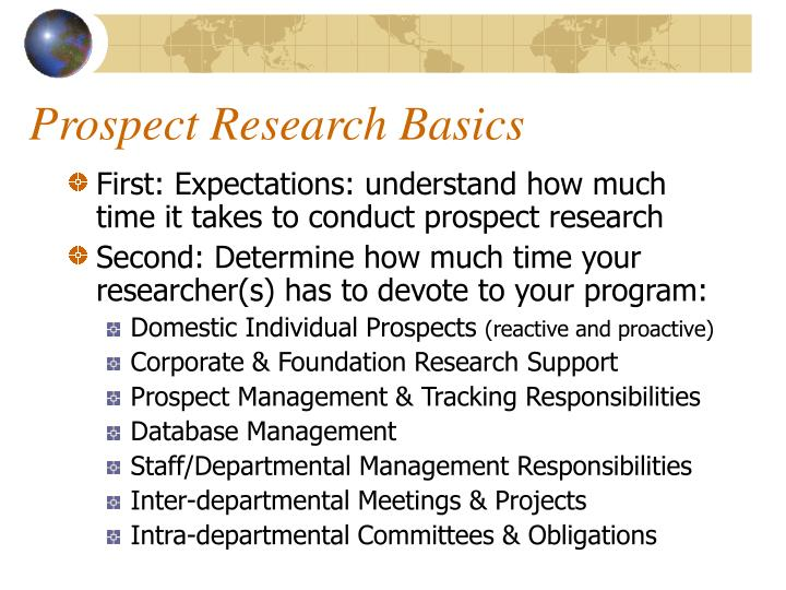 Prospect research basics3