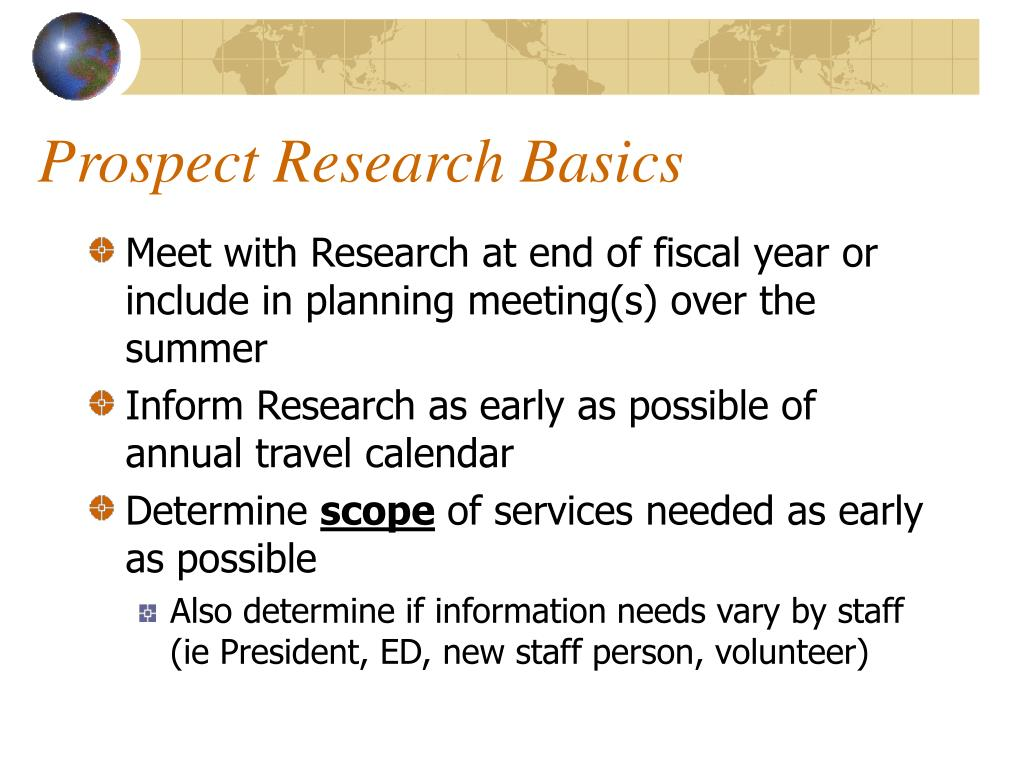 Prospect Research Basics